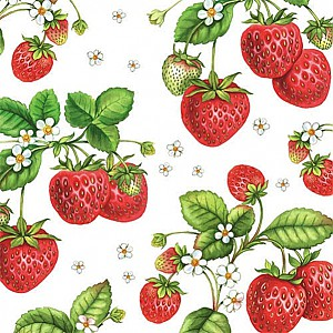 Napkins Strawberry Plant