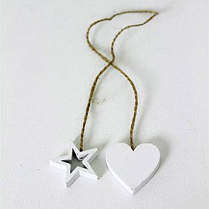 Heart / Star on a string
