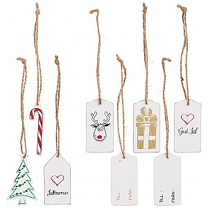 Wooden Gift Tag Christmas Motifs