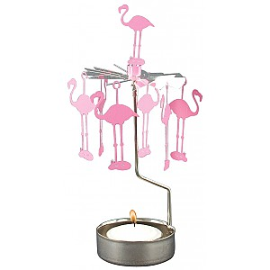 Rotary Candle Holder Flamingo