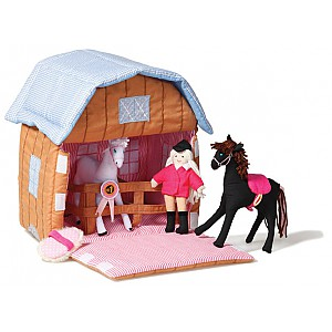 Pony Stable with horses