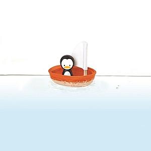 Segelbåt med Pingvin