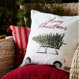 Cushion Cover Happy Holiday
