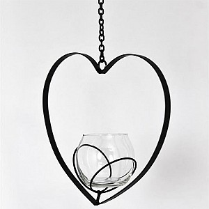 Hanging Candle Holder Bim Heart