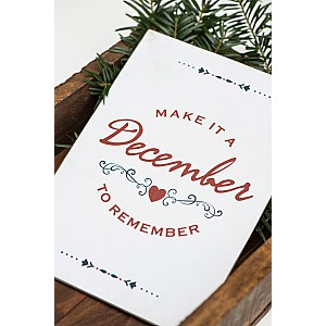 Tin Sign December to remember