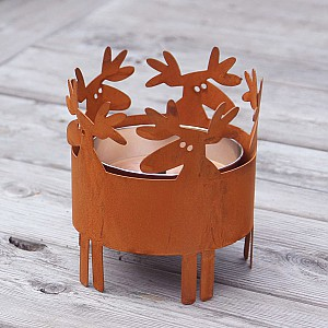 Outdoor Candle Holder Moose
