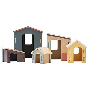Kids Concept Small Wooden Houses Set Edvin