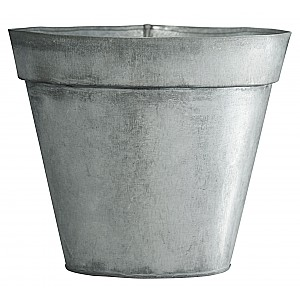 Kruka i metall - Zink - 13,5 cm
