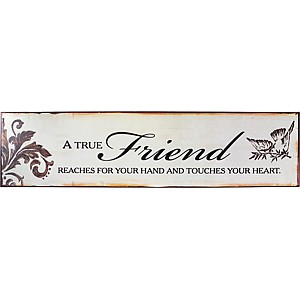 Tin Sign A true friend