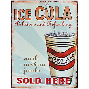 Tin Sign COLA