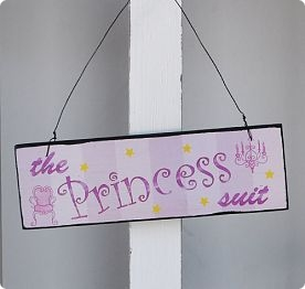 Wooden Sign Princess