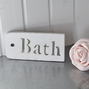 Wooden Sign Bath