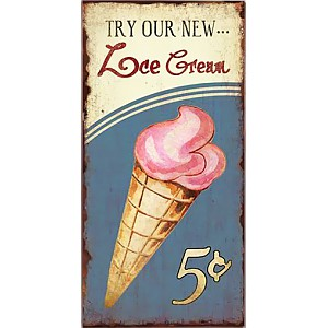 Tin Sign Ice Cream