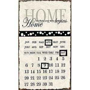 Enamel Sign Calendar