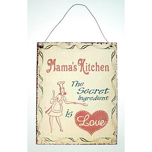 Tin Sign Mama's Kitchen
