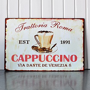 Tin Sign Cappuccino