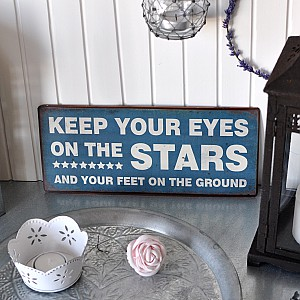 Tin Sign Eyes on the stars
