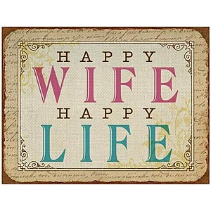 Tin Sign Happy Wife