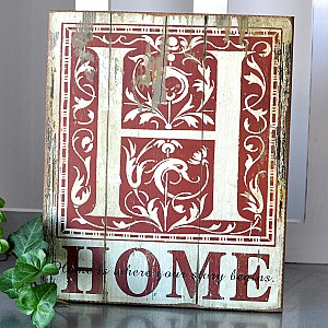 Wooden Sign Home