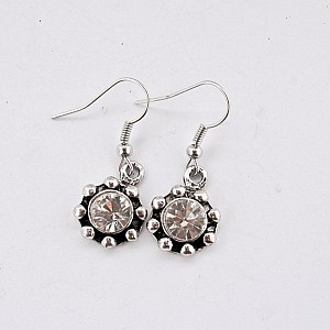 Earrings Round Rhinestones