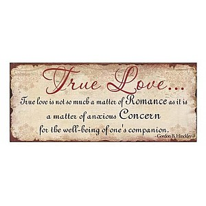 Tin Sign True Love