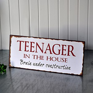 Tin Sign Teenager