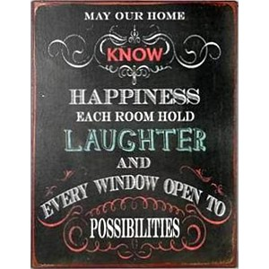 Tin Sign May our home know happiness