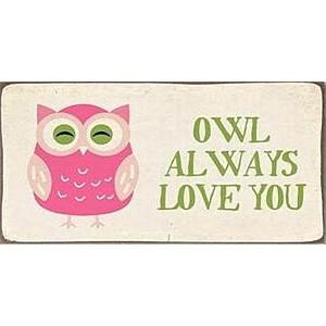Magnet / Kylskåpsmagnet Owl always love you