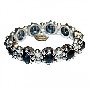 Bracelet with black rhinestones