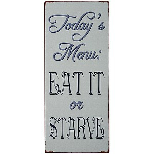 Tin Sign Today's Menu