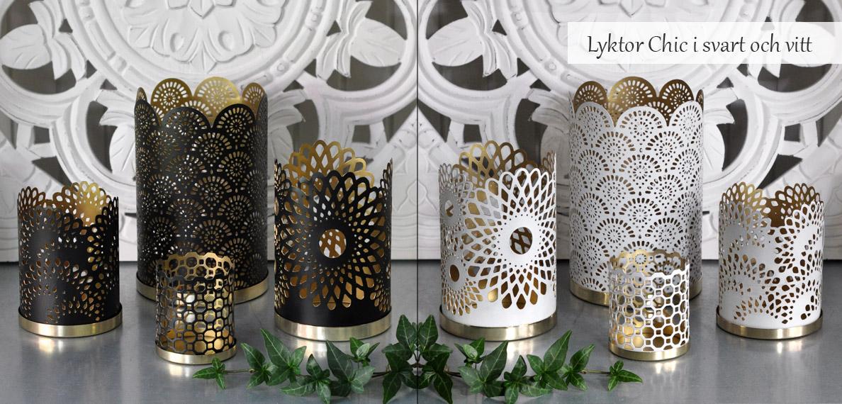 Ljuslyktor Chic från Silkflower
