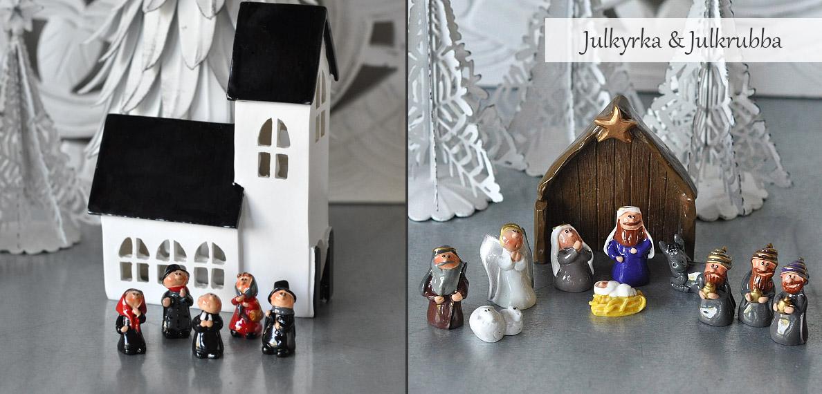 Julkyrka och Julkrubba