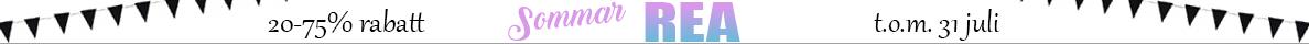 REA med 20-75% rabatt på utvalda varor t.o.m. 31/7 2018. Reservation för slutförsäljning.
